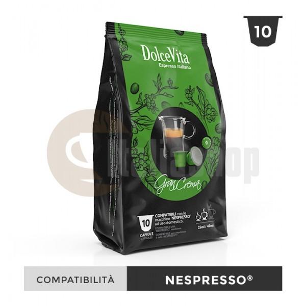 Dolce Vita Capsule Compatibile Nespresso Gran Crema - 10 Buc.