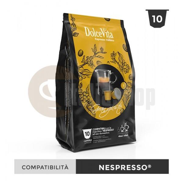 Dolce Vita Capsule Compatibile Nespresso Gran Gusto - 10 Buc.