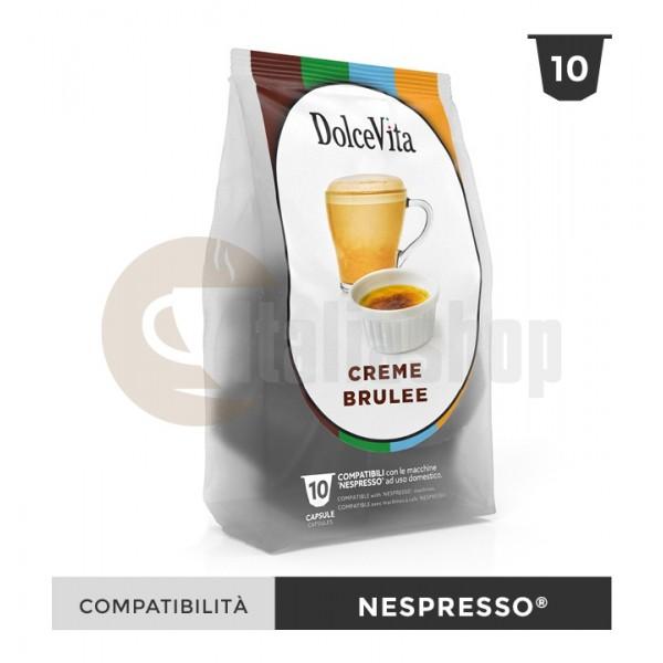 Dolce Vita Capsule Compatibile Nespresso Creme Brulee - 10 Buc.