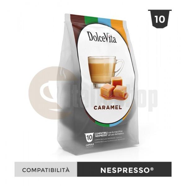 Dolce Vita Capsule Compatibile Nespresso Caramelito - 10 Buc.