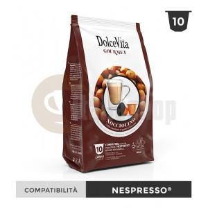 Dolce Vita Capsule Compatibile Nespresso Nocciolino - 10 Buc.