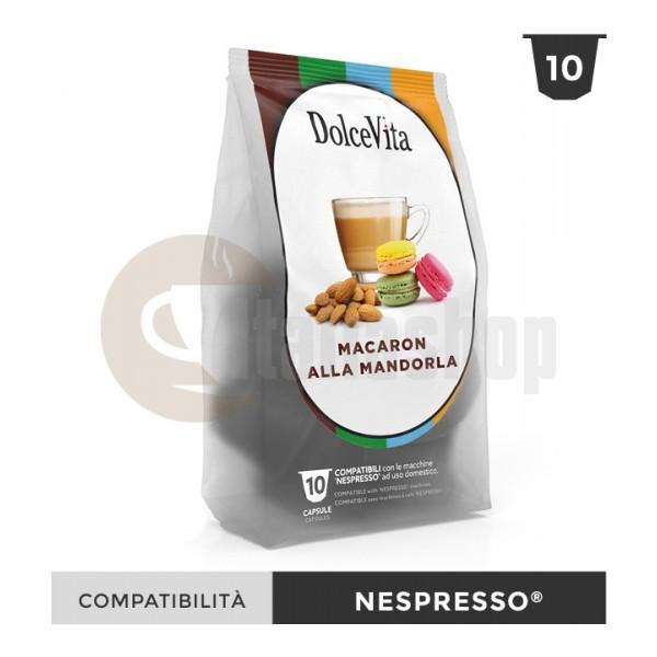 Dolce Vita Capsule Compatibile Nespresso Macaron Mandorla - 10 Buc.