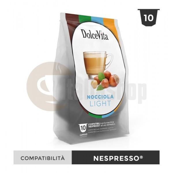 Dolce Vita Capsule Compatibile Nespresso Nocciolino Light - 10 Buc.