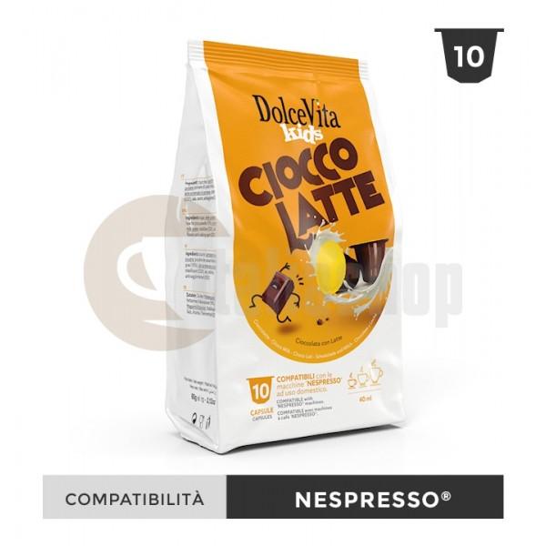 Dolce Vita Capsule Compatibile Nespresso Ciocco Latte - 10 Buc.