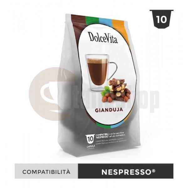 Dolce Vita Capsule Compatibile Nespresso Gianduja - 10 Buc.