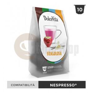 Dolce Vita Capsule Compatibile Nespresso Fragolosa - 10 Buc.