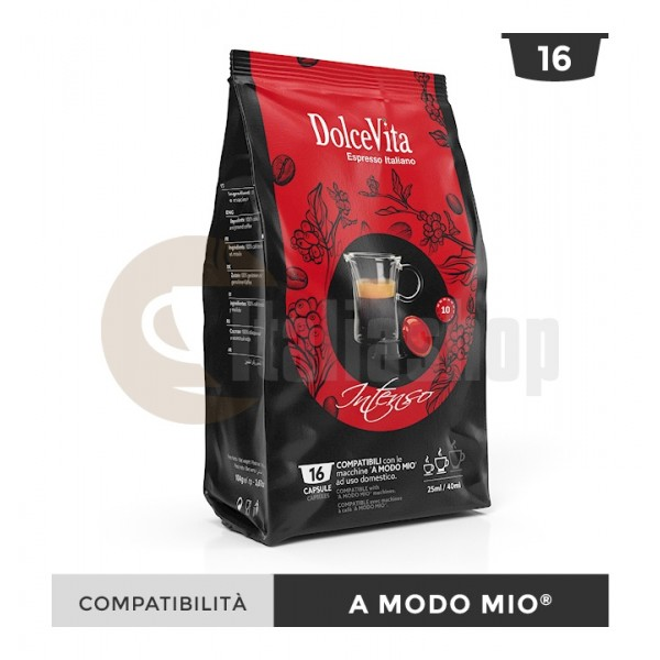 Dolce Vita Capsule Compatibile Lavazza A Modo Mio Intenso - 16 Buc.