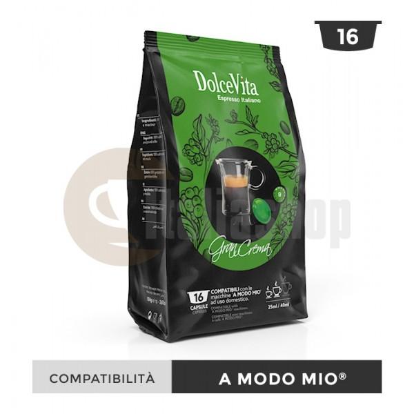 Dolce Vita Capsule Compatibile Lavazza A Modo Mio Gran Crema - 16 Buc.