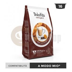 Dolce Vita Capsule Compatibile Lavazza A Modo Mio Biscottino - 16 Buc.