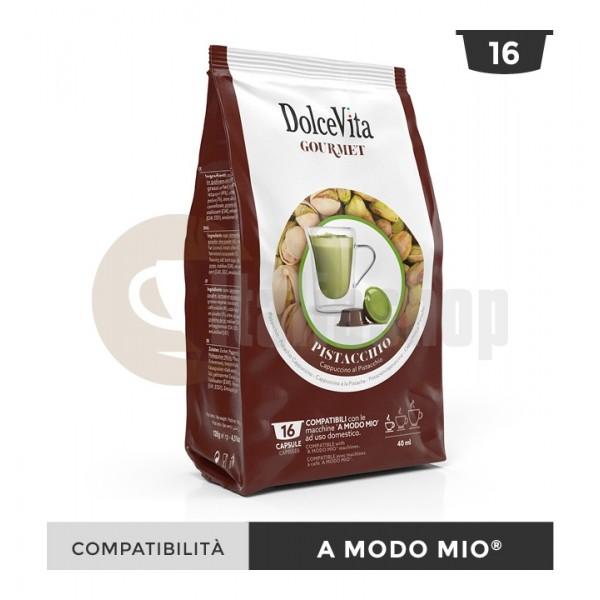 Dolce Vita Capsule Compatibile Lavazza A Modo Mio Pistacchio - 16 Buc.