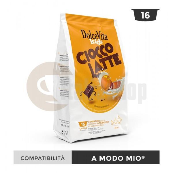 Dolce Vita Capsule Compatibile Lavazza A Modo Mio Ciocco Latte - 16 Buc.