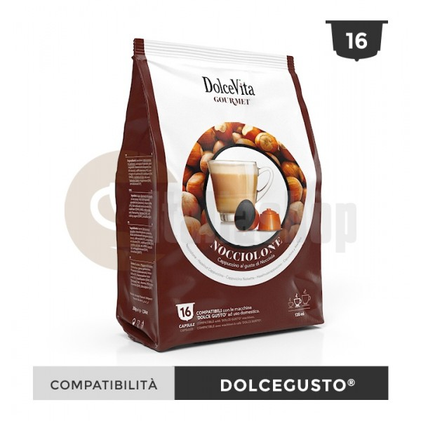 Dolce Vita Capsule Compatibile Dolce Gusto Nocciolino - 16 Buc.