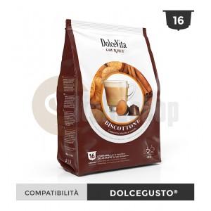 Dolce Vita Capsule Compatibile Dolce Gusto Biscottino - 16 Buc.