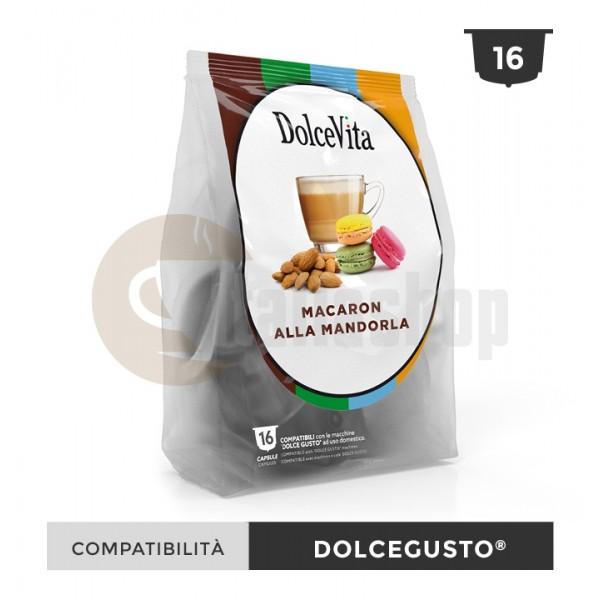 Dolce Vita Capsule Compatibile Dolce Gusto Macaron Mandorla - 16 Buc.