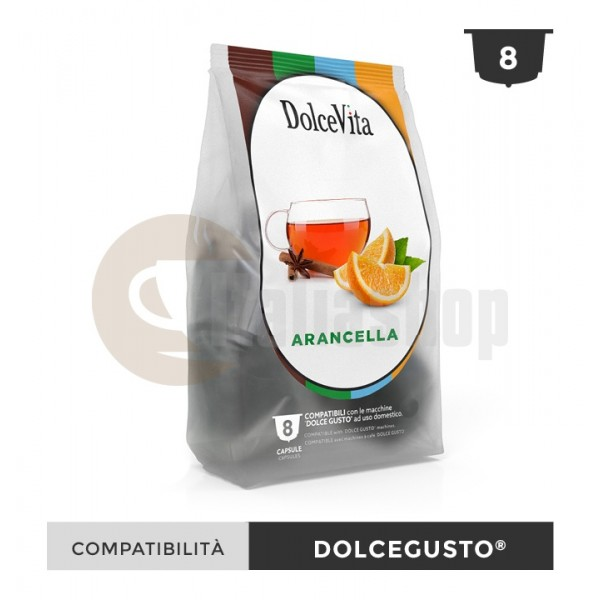 Dolce Vita Capsule Compatibile Dolce Gusto Arancella - 8 Buc.