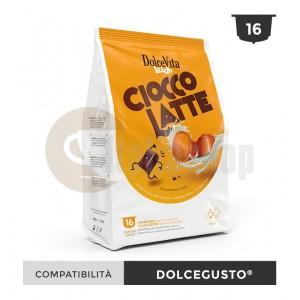 Dolce Vita Capsule Compatibile Dolce Gusto Ciocco Latte - 16 Buc.