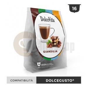 Dolce Vita Capsule Compatibile Dolce Gusto Gianduja - 16 Buc.