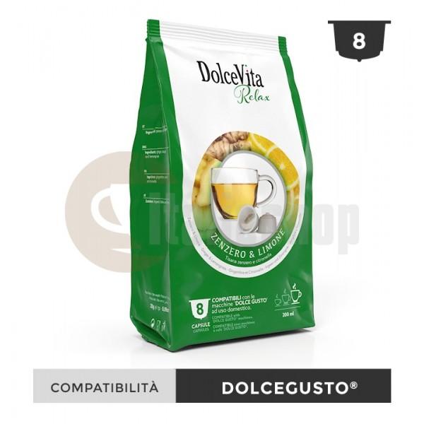 Dolce Vita Capsule Compatibile Dolce Gusto Zenzero Limone - 8 Buc.