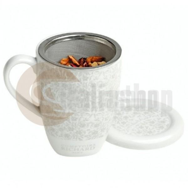 Cafés Richard ceașcă ceramică de ceai cu sită
