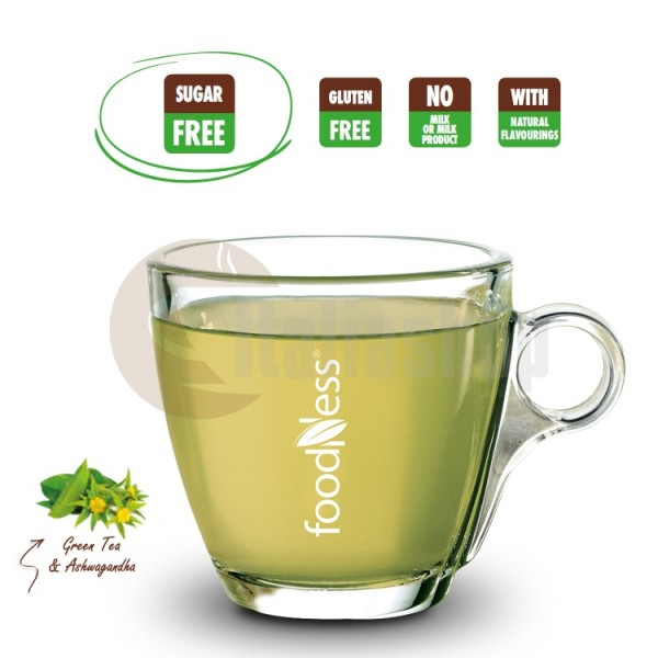 Foodness Capsule Compatibile Dolce Gusto Cafea Verde Cu Ashwagandha (Ginseng Indian) - 50 Buc.