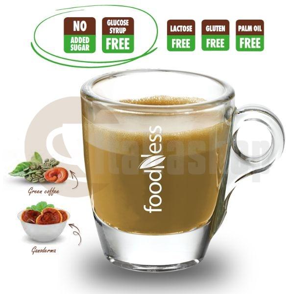 Foodness Capsule Compatibile Dolce Gusto Cafea Verde Solubila Cu Ganoderma - 50 Buc.