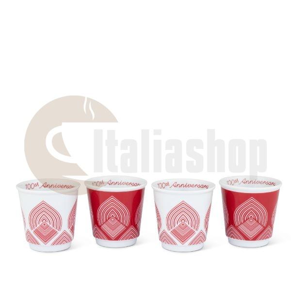 Bialetti Centenario Set 4 Cesti Espresso