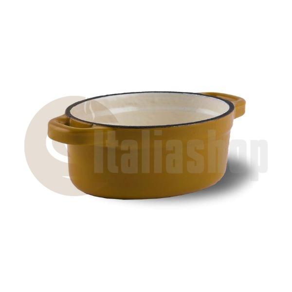 Aeternum Caserolă Mică Din Fontă 12,5 Cm Galbenă