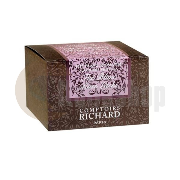 Cafes Richard Ceai alb cu Trandafir și Lychee - 15 buc.