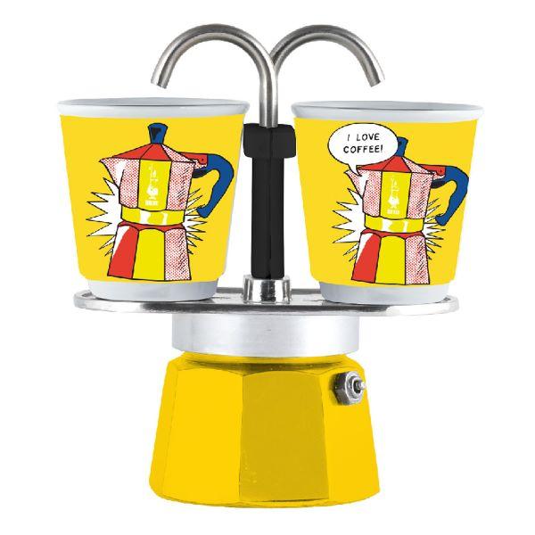Bialetti Set Mini Express Lichtenstein Capacitate 2 Cești