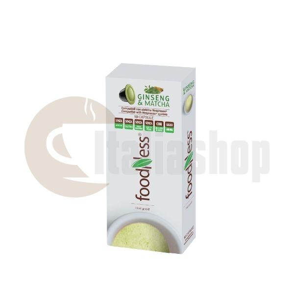 Capsule Foodness Cafea cu Ginseng si Matcha Compatibile Nespresso