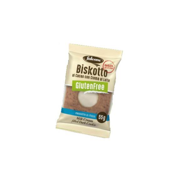 Falcone Biscuite De Ciocolata Fara Gluten Cu Umplutura De Lapte 1 Buc