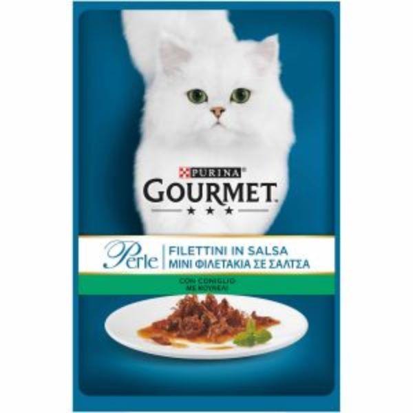 Hrana Pentru Pisici Gourmet® Pеrle Mini Fileuri In Sos Cu Iepure 85Gr.
