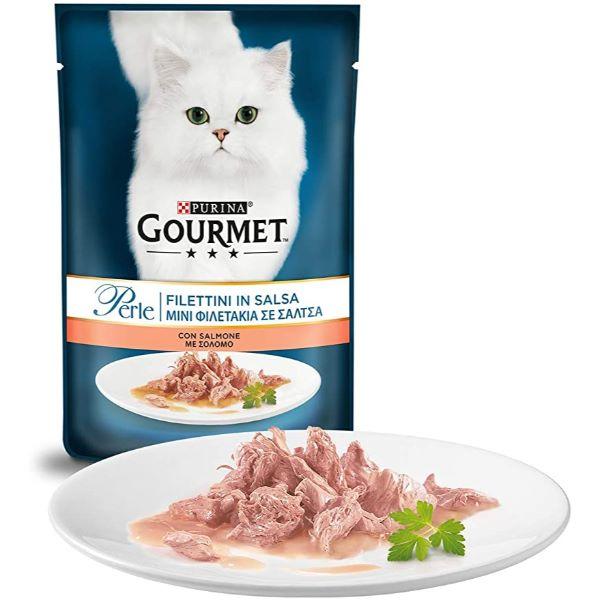 Hrana Pentru Pisici Gourmet® Pеrle Mini Fileuri In Sos Cu Somon 85Gr.