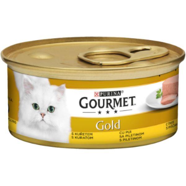 Hrana Pentru Pisici Gourmet® Gold Pate Cu Pui 85Gr.