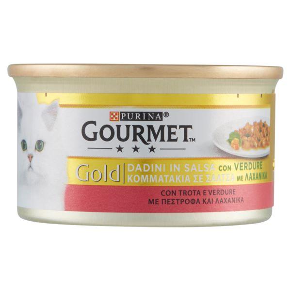 Hrana Pentru Pisici Gourmet® Gold Pate Cu Pastrav Si Legume 85Gr.