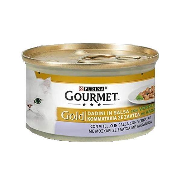 Hrana Pentru Pisici Gourmet® Gold Pate Cu Vita Si Legume 85Gr.