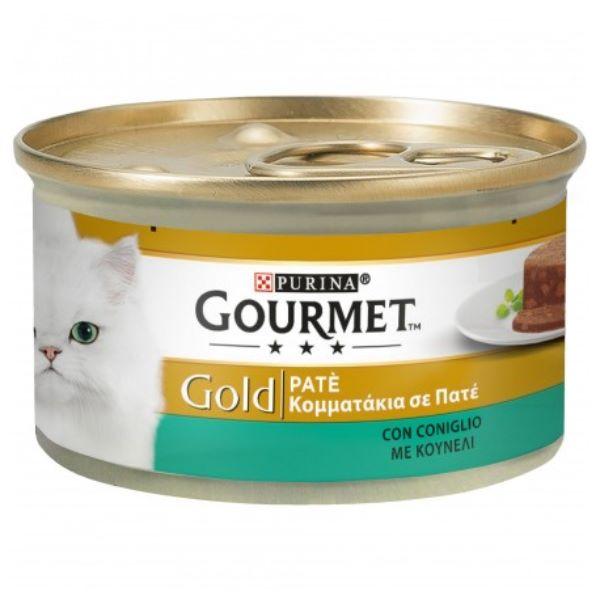 Hrana Pentru Pisici Gourmet® Gold Pate Cu Iepure 85Gr.