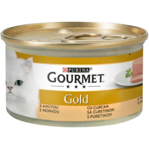 Hrana Pentru Pisici Gourmet® Gold Pate Cu Curcan 85Gr.