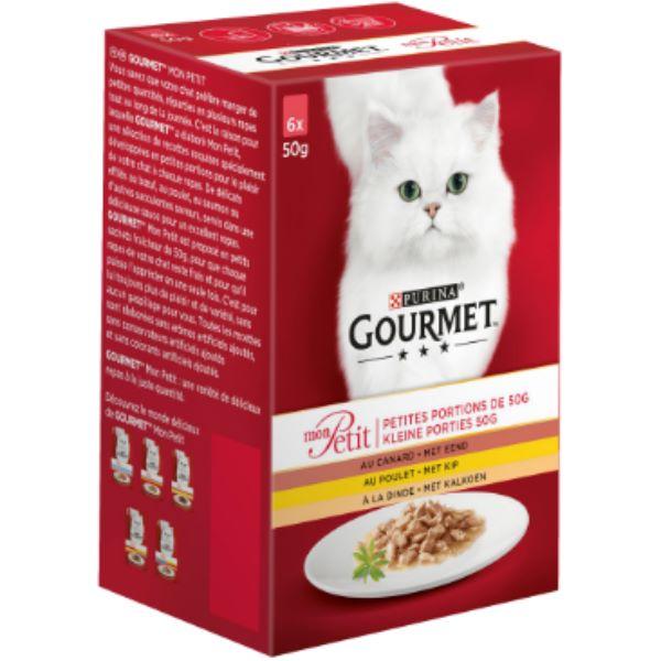 Hrana Pentru Pisici Gourmet® Mon Petit cu Pui, Rata Si Curcan 6 Х 50Gr.