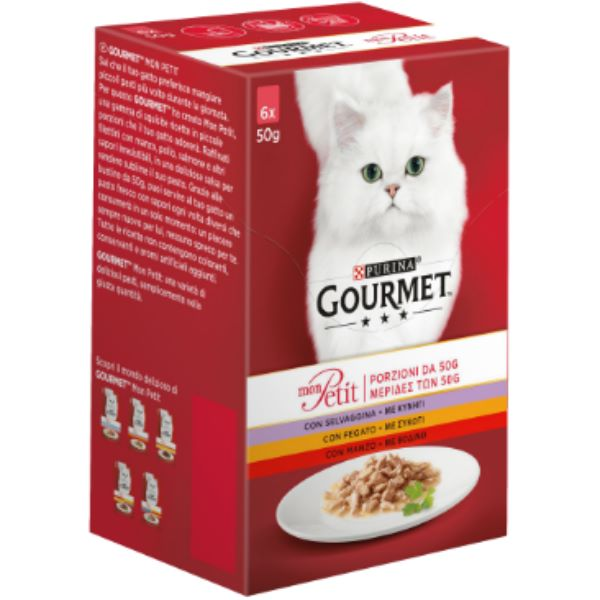 Hrana Pentru Pisici Gourmet® Mon Petit С Vita, Vitel Si Miel 6 Х 50Gr.