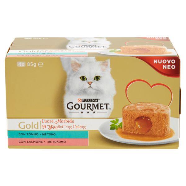 Hrana Pentru Pisici Gourmet® Gold Pate Cu Ton Si Somon, 4 Х 85Gr.