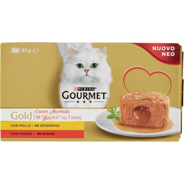 Hrana Pentru Pisici Gourmet® Gold Bucatele In Sos Cu Vita Si Pui, 4 X 85Gr.