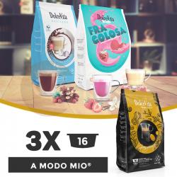 Dolce Vita Capsule Compatibile Lavazza A  Modo Mio - 3 pachete x 16 buc.