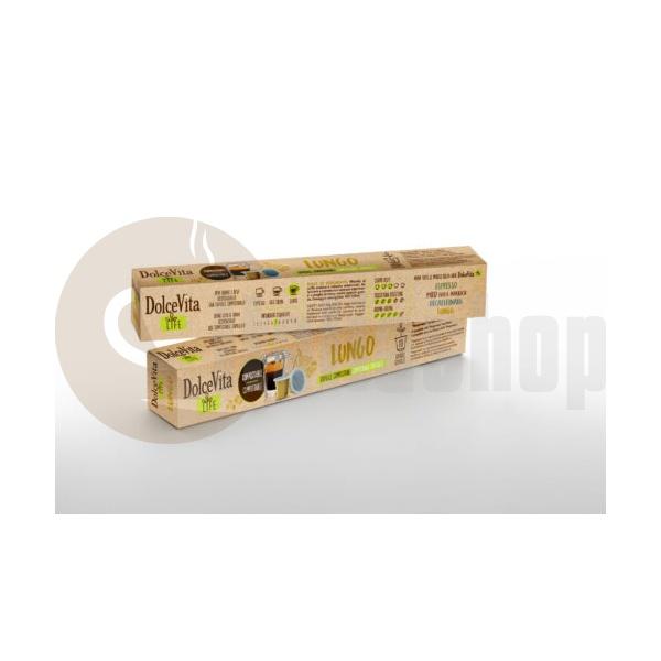 Capsule compatibile Dolce Vita pentru Nespresso Lungo - 10 buc