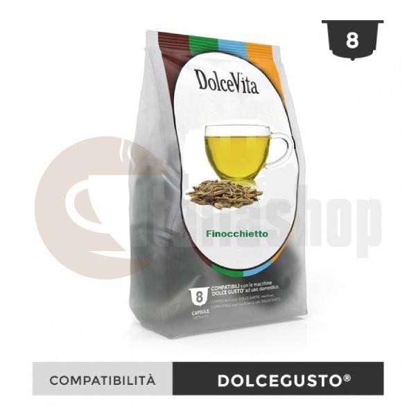 Capsule compatibile Dolce Vita pentru Dolce Gusto Finocchietto - 8 buc