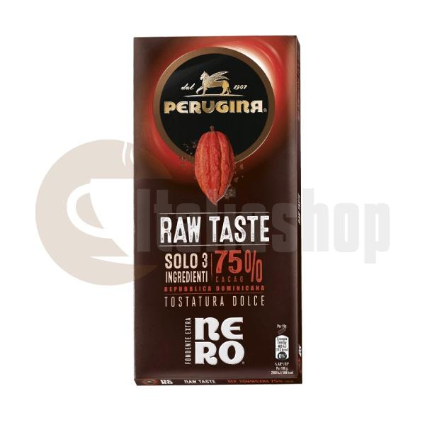 Perugina Chocolate Nero Gust Crud 75% Cacao 95g