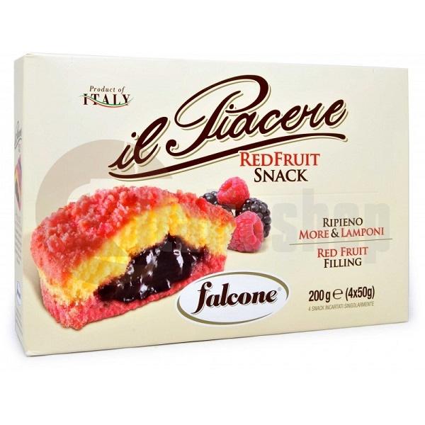 Falcone Snack cu fructe roșii - 4 bucăți într-un pachet