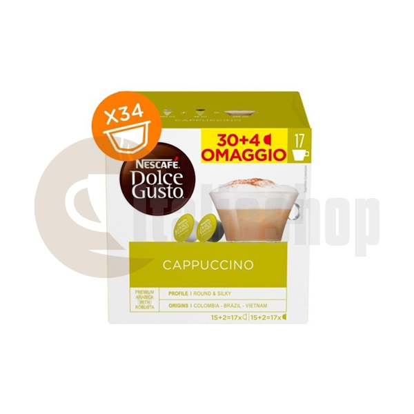 Dolce Gusto Cappuccino - 34 Pcs.