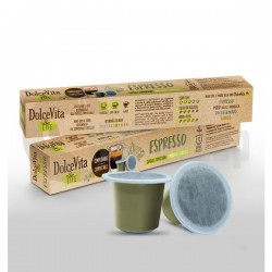 Capsule compatibile Dolce Vita pentru espresso Nespresso - 10 buc