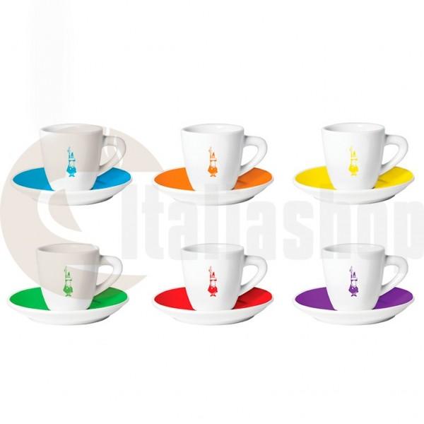 Bialetti cesti din portelan pentru cafea Istituzionali color 6 bucati